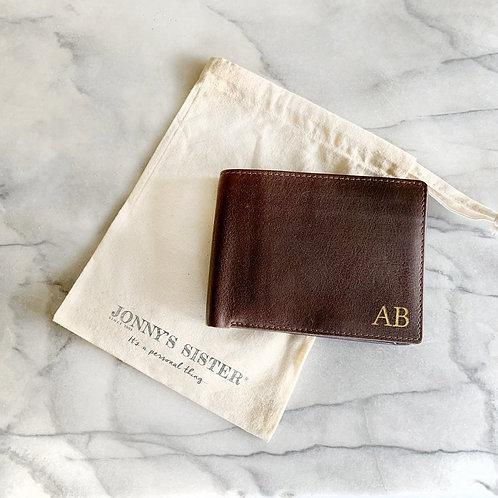 Personalised Brown Leather Wallet
