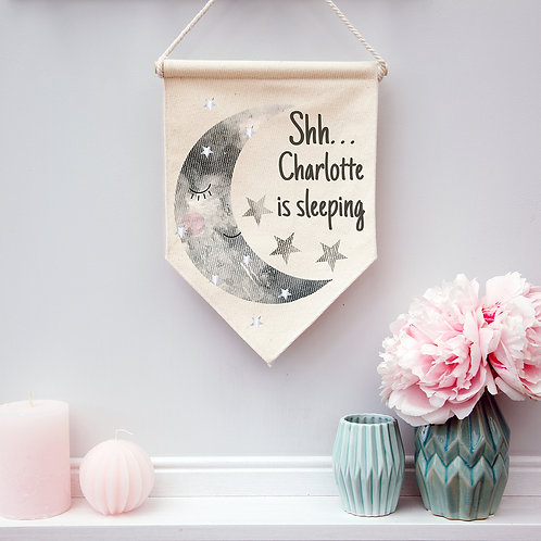 Personalised Children's Moon Pennant