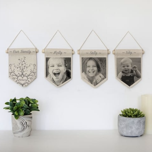 Personalised Family Photograph Pennants