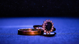 Wedding rings model concept photography