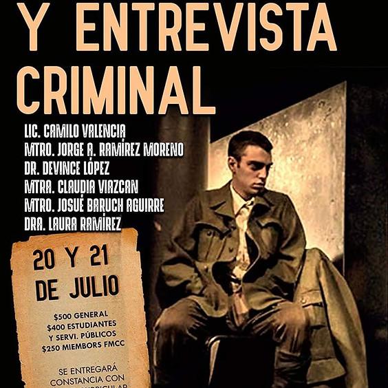 Simposio Internacional Online: Interrogatorio y Entrevista Criminal
