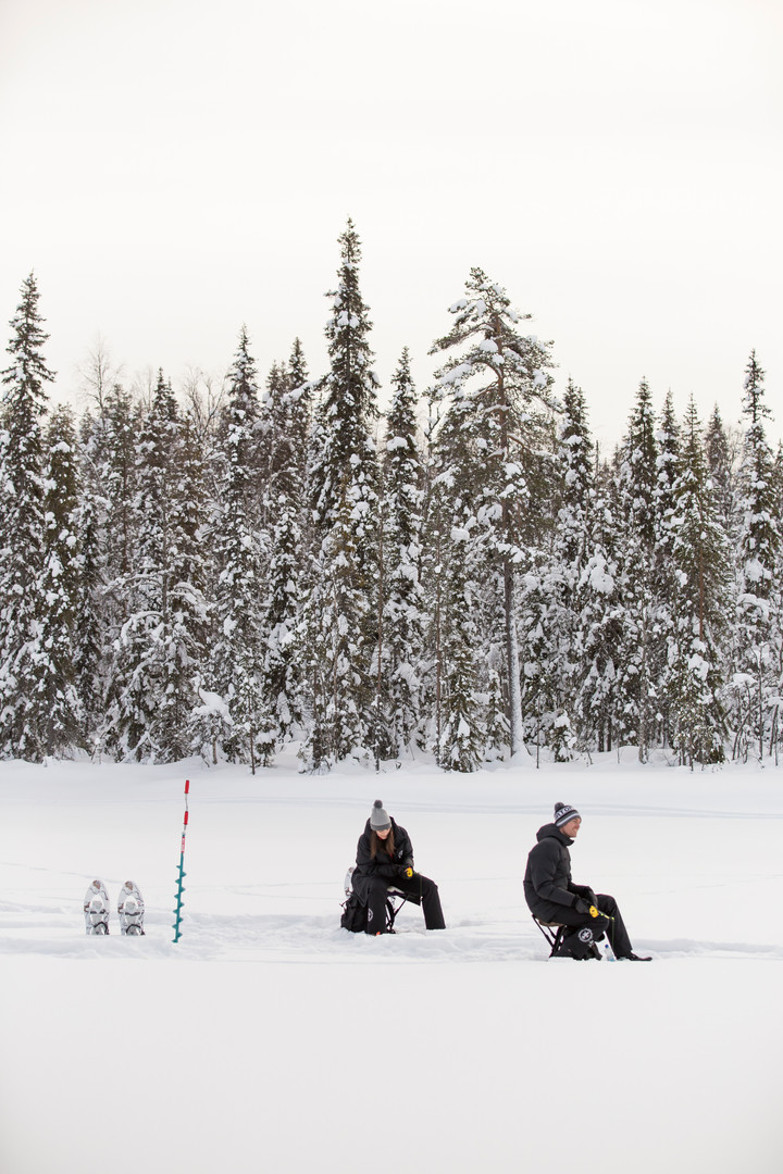 Ice Fishing in Tranquility