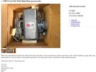 NOS Rochester Fuelie System