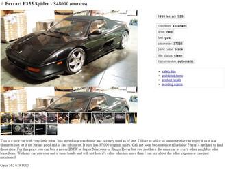 '95 F355 Spider sub $50k