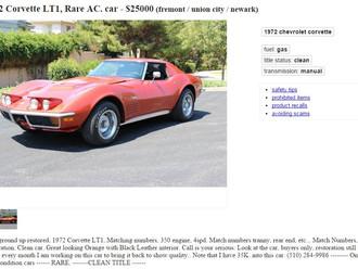 '72 Corvette LT-1 Coupe w/ AC! $25k obo