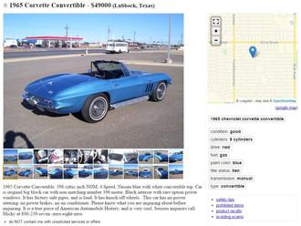 Attractive '65 Corvette BB Roadster