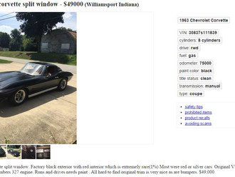 UPDATE: Black on Red '63 Corvette SWC