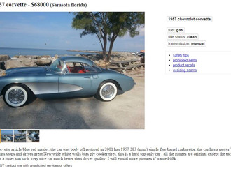 '57 Corvette - Arctic Blue on Red