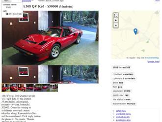 '85 Ferrari 308GTS QV - $50k