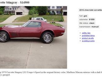 '70 Corvette LS5 for <$15k?
