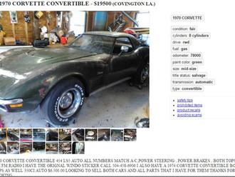 '70 Corvette BB Roadster - Project