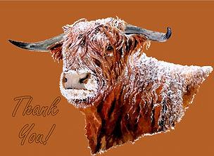 Snowy Highland Cow - Thank You Card.jpg
