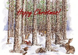 Winter Woodland Animals design - Happy C
