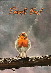 The Beauty of Birdsong - Thank You Card.