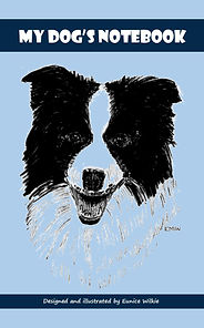 FRONT COVER-BLUE COLLIE DOG NOTEBOOK-5x8