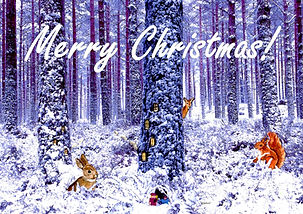 Christmas Card - Weenies' Snowy Woodland