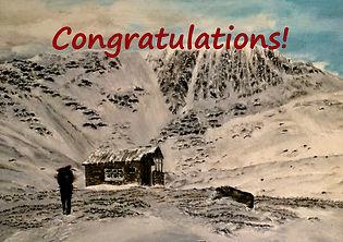 Scottish Mountains Congratulations Card.