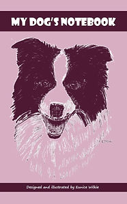 FRONT COVER-PURPLE COLLIE DOG NOTEBOOK-5