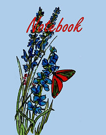 FRONT COVER-BLUE FLOWERS-BUTTERFLY 8x10