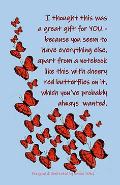 FRONT COVER RED BUTTERFLIES NOTEBOOK FOR PEOPLE WHO HAVE EVERYTHING.jpg