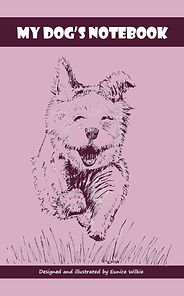 FRONT COVER-PURPLE DOG NOTEBOOK-5x8 COVE