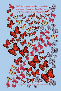 FRONT COVER MULTI BUTTERFLIES NOTEBOOK FOR PEOPLE WHO HAVE EVERYTHING.jpg