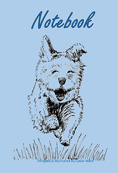 FRONT COVER-BLUE RUNNING DOG-5x8 COVER T