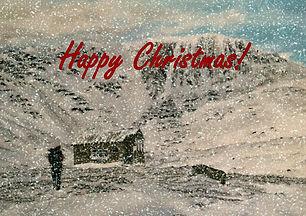 Snowy Scottish Highlands Christmas Card.