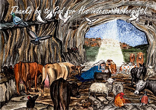 Thanks be to God - Nativity Scene with B
