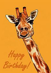 Giraffe - Birthday Card (yellow).jpg
