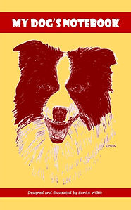 FRONT COVER-YELLOW&RED COLLIE DOG NOTEBO