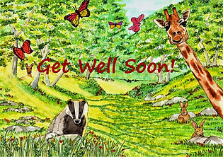 Friendly Faces - Get Well Soon Greeting