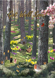 Woodland in Spring - Get Well Soon Card.