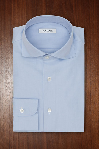Chemise bleu sur mesure