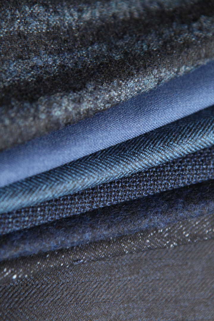 tissus veste sur mesure bleu