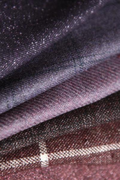 tissus violet bordeau veste sur mesure