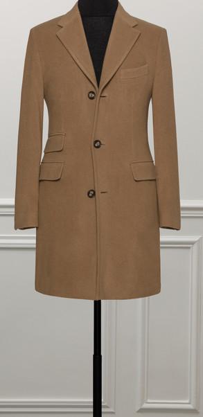 Manteau beige sur mesure