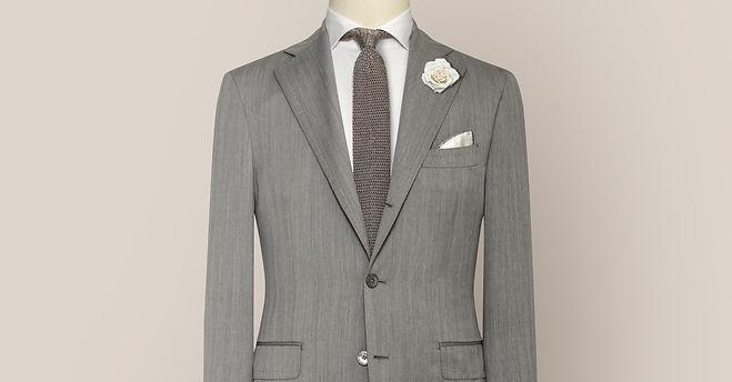 costume mariage gris sur mesure pas cher