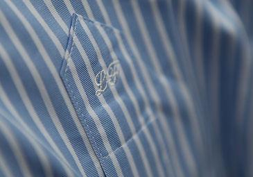 initiales brodés chemise sur mesure