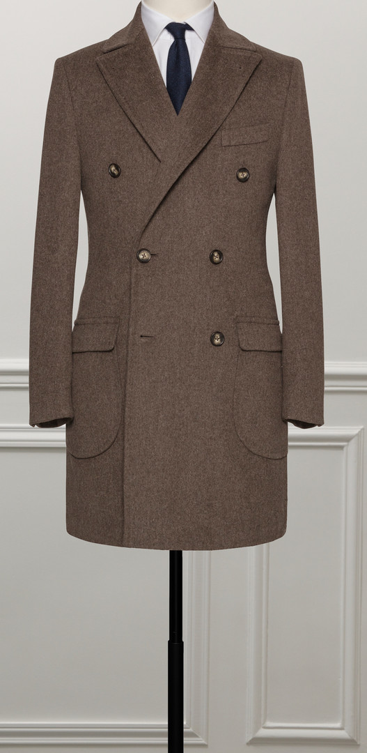 manteau sur mesure marron