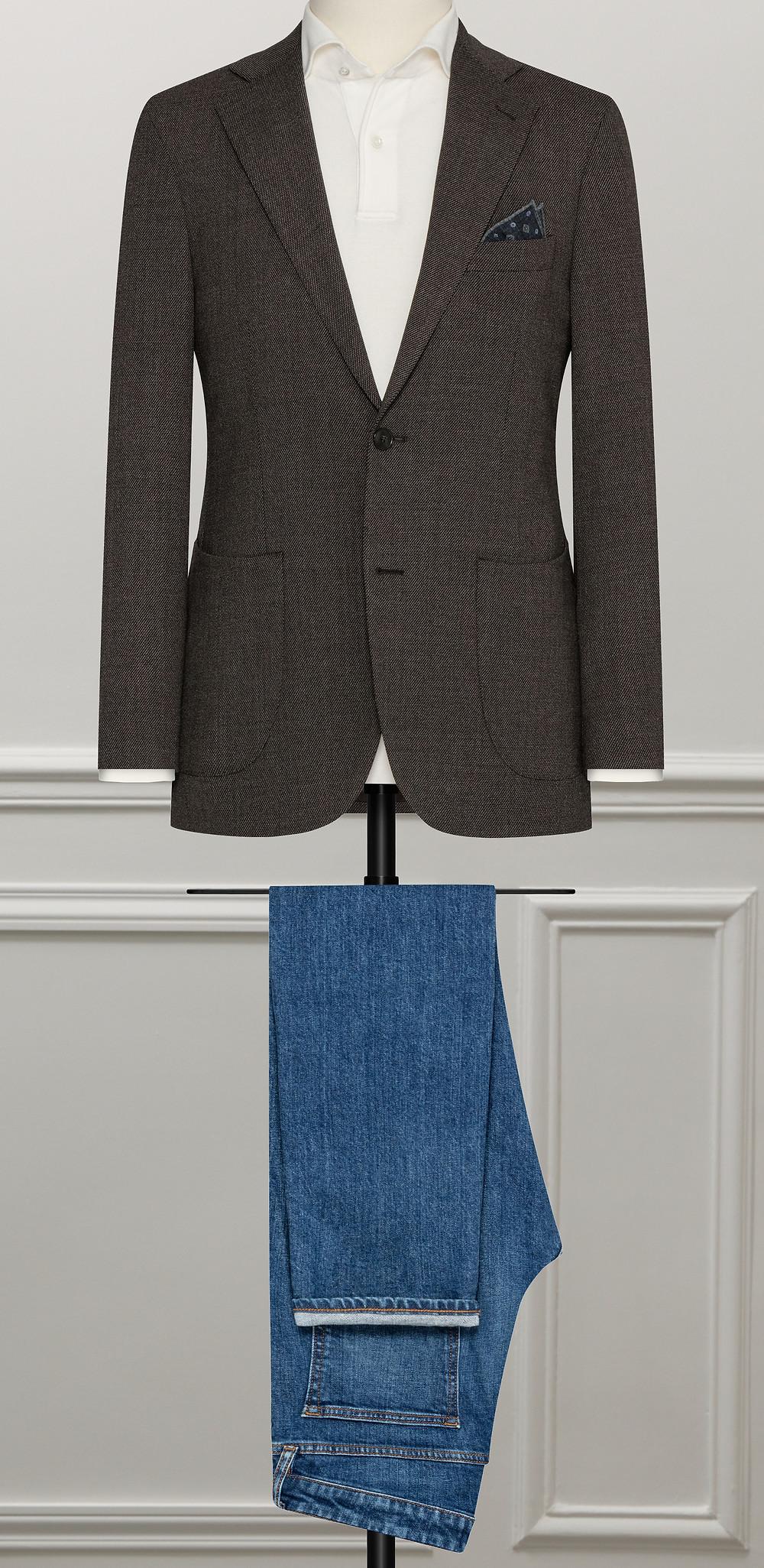 veste décontractée, smart casual, soft tailoring, casual, veste sur mesure
