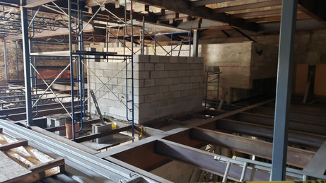 August 6, 2020  North-facing shot of the elevator progress between the 2nd & 3rd floors.