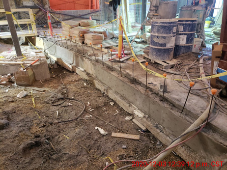 December 3, 2020  Radius wall formwork being removed.