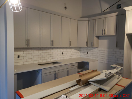 Suite 308 - backsplash and counters installed