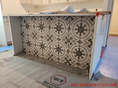 Suite 310 - island tiles installed