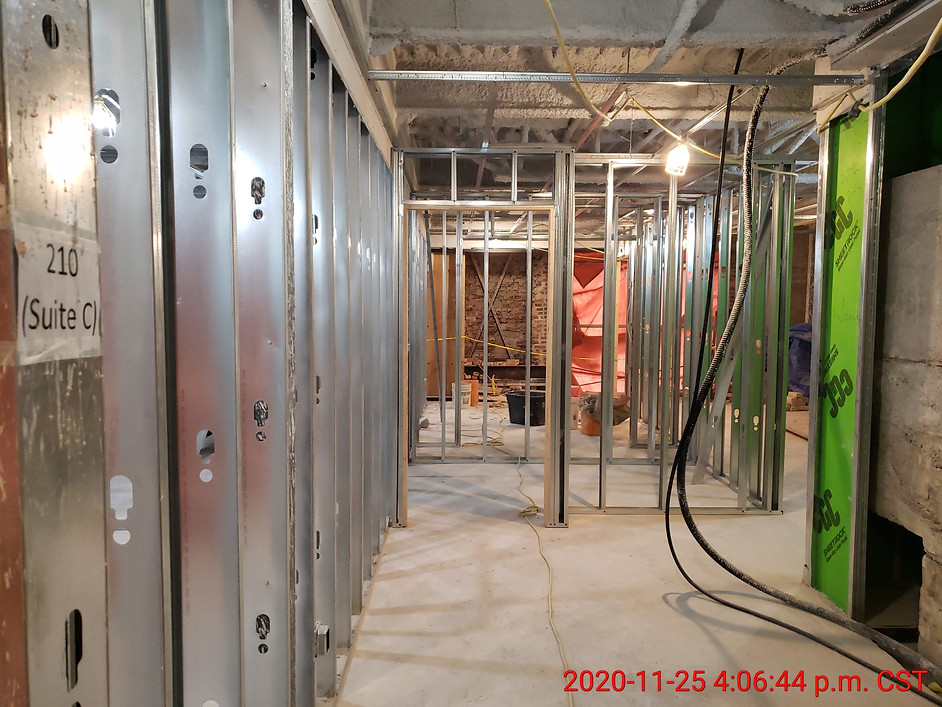 November 25, 2020  Looking into suite 210 from entry.
