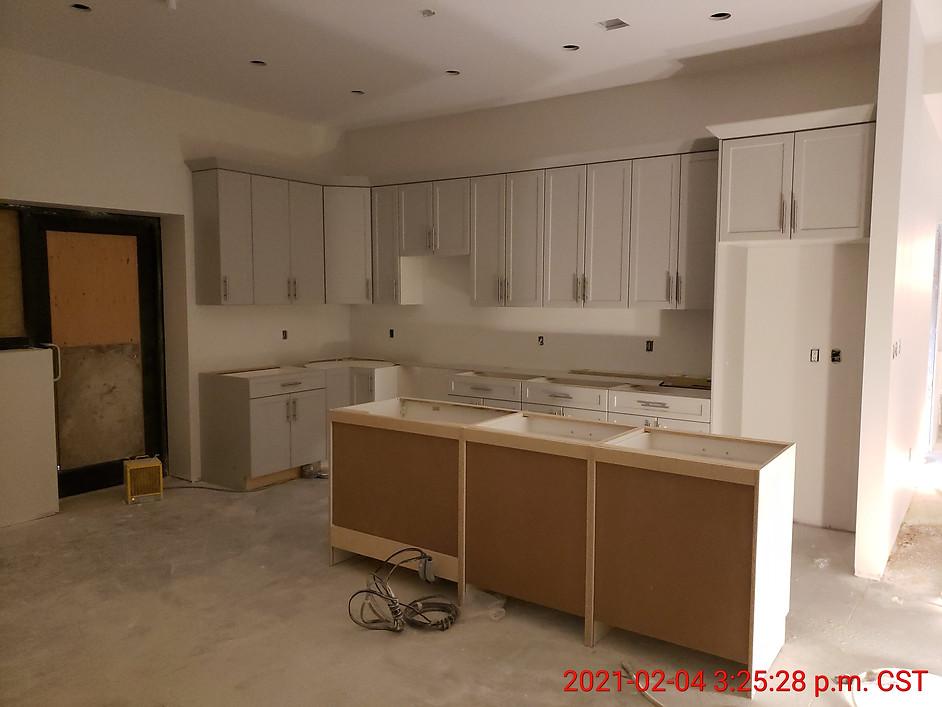 Suite 108 - kitchen cabinets installation
