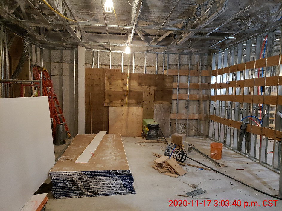 November 17, 2020  Suite 108 kitchen and dining room