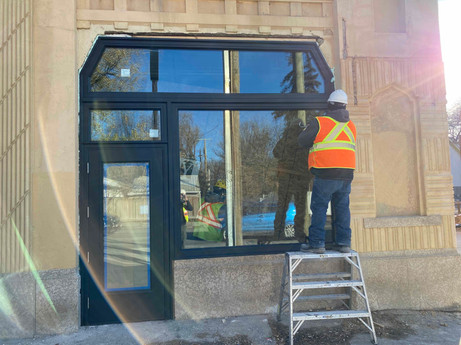 October 22, 2020  New storefront has been installed.