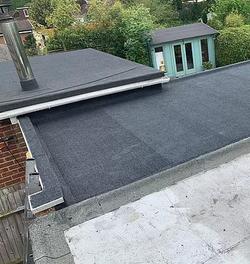 Flat roof Torch on felt